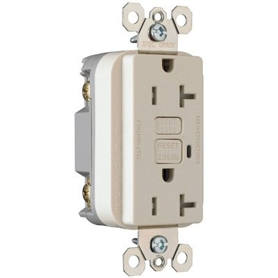 Pass & Seymour Legrand Ps2095-Trla 20Amp Gfci Light Almond Safelock Receptacle 20A 125Vac 60Hz