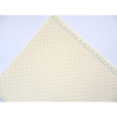 Melody Jane Dollhouse Grey on Cream Balmoral Miniature Print 1:12 Wallpaper 3 Sheets: Toys & Games