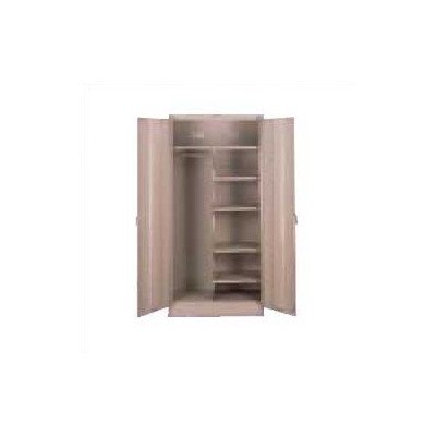 Deluxe 78''H x 36''W x 24''D 2 Door Storage Cabinet Color: Medium Grey, Doors: Standard