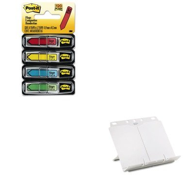 - KITFEL21100MMM684SH - Value Kit - Fellowes BookLift Adjustable Desktop Copyholder (FEL21100) and Post-it Arrow Message 1/2amp;quot; Flags (MMM684SH)