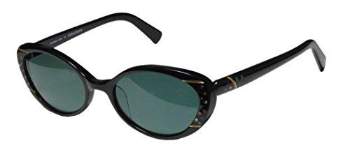Seraphin Neoclassic Polarized Quinn Sun Sunglasses Black Frame with Green - Seraph Sunglasses