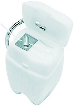 Zahnseide - Schlüsselanhänger - ideal für unterwegs / Schule / Büro - mit 11 m Zahnseide (2)