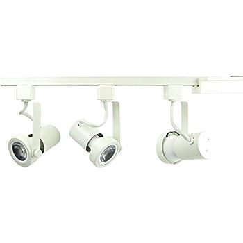track lighting white. Wonderful White DirectLighting 3Light PAR20 LED Gimbal Ring Track Lighting Kit  White To C