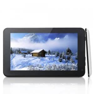 """SOSOON X18 II 7"""" HD Screen Android 4.1 Dual-Core Android 4.1 8GB Tablet PC Black & White"""