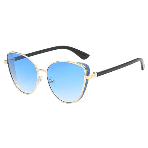 LODDD New Women's Fashion Sunglasses Metal Frame Vintage Shade ()