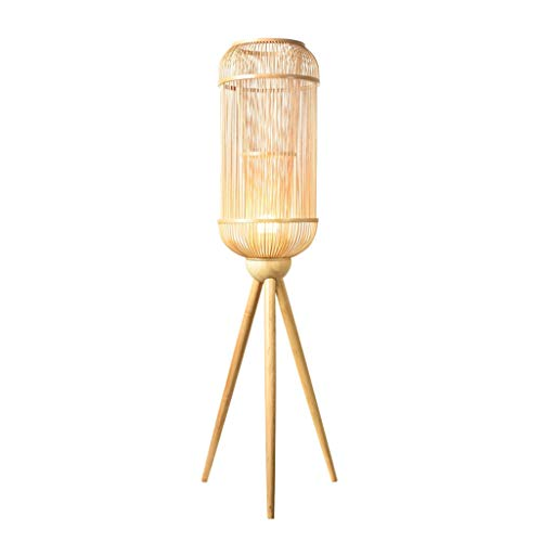 Yxx max Standing Light Floor Lamp Original Weaving Bamboo Silk Chinese Style Simple Tea Room Living Room Bamboo Lamp