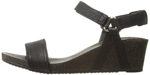 Black Womens Summer Ysidro Sandals Comfort Leather Wedge ladies Stitch Teva zgUwOg