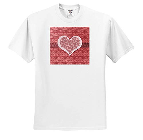 Beverly Turner Heart Design - Image of Striped Hearts Within a Big Heart on Fleur de Lis Design - T-Shirts - Toddler T-Shirt (2T) (ts_306379_15) White