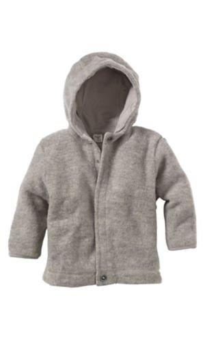 b573f5cf6f83 hessnatur Wollfleece-Jacke aus reiner Bio-Schurwolle , braun , 98 104   Amazon.de  Baby