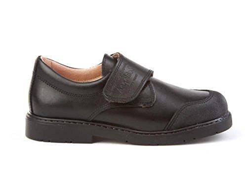 ANGELITOS Zapatos Colegiales con Puntera Reforzada Todo Piel, Mod.452. Calzado Infantil (Talla 34 - Negro)