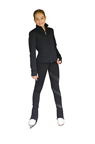 Black Fitted Jacket (Chloe Noel JT61 Princess Seam Fitted Jacket with Pockets & Thumb Holes (Black, Adult Small))