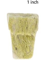 EMVANV Bloques de Crecimiento de Cubos de Lana de Roca, 50 Unidades de Base de compresión con ventilación hidropónica para Cultivar Cubos de Lana de Roca sin Tierra