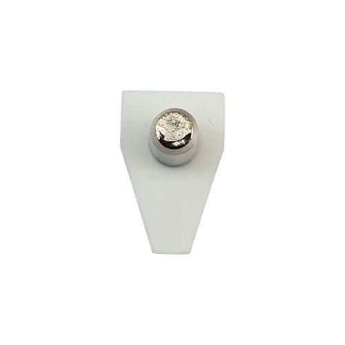 100 Pack Rok Hardware 5mm White Shelf Support Bracket Steel Pin Peg Kitchen Cabinet Book Shelves Holder by Rok (Image #3)