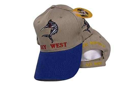 K's Novelties Embroidered Key West Florida Marlin Fishing Conch Republic Hat ()