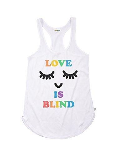 6f6e7975f1d0ad Women s Rainbow Pride Tank Top - Funny LGBT Shirts (Love is Blind