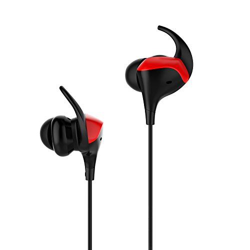 Bluetooth Headphones, Wewdigi Cowin HE8I Active Noise Cancelling Earbuds Wireless Headphones with Microphone Earbuds (Red)