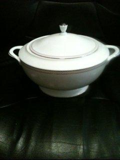 - Nikko Blush Beaded Pearl Covered Vegetable Bowl