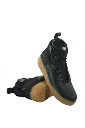 NIKE Men's SF AF1 Mid Black/Black Gum Light Brown Basketball Shoe 9 Men - Fashion Outlet Francisco San
