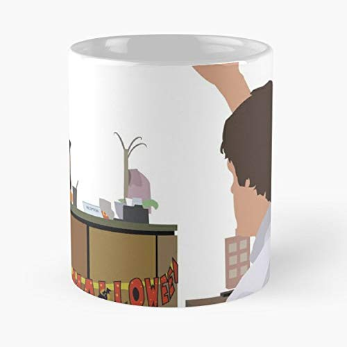 The Office Jim Pam And - 11 Oz Coffee Mugs Unique Ceramic Novelty Cup, The Best Gift For Halloween. -