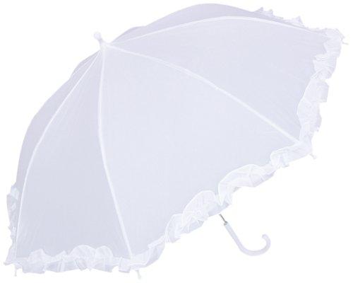 RainStoppers Kid's Umbrella, White, 34-Inch -