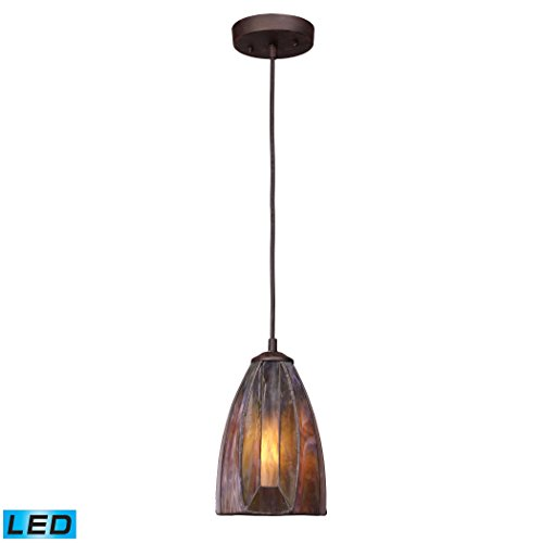 Dimensions 1-Light Pendant In Burnished Copper - LED Offering Up To 800 Lumens (60 Watt Equivalent) With Full Range Dimming. Includes An Easily Replaceable LED Bulb (120V).