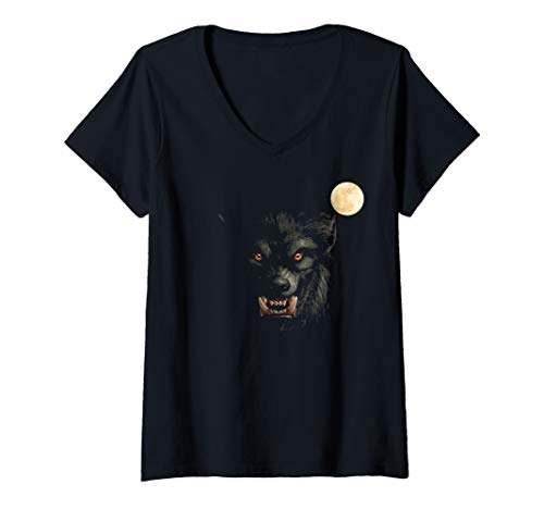 Womens Scary Cool Halloween Werewolf Lychan Trick Or