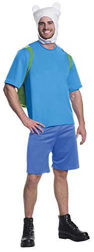 Rubie's Costume Co Men's Adventure Time Deluxe Finn Costume, Multi, (Finn Adventure Time Halloween Costume)