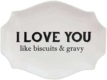 COOP I Love You Like Biscuits /& Gravy Decorative Stoneware Plate