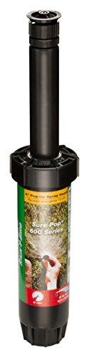 Rain Bird SP40AP Sure Pop 600 Series Pop-Up Sprinkler, Adjustable 0° - 360° Pattern, 8' - 15' Spray Distance, 4