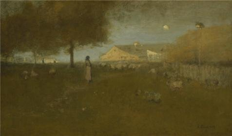 'George Inness,Old Farm Montclair,1893' Oil Painting, 12x20 Inch / 30x52 Cm ,printed On Perfect Effect Canvas ,this Vivid Art Decorative Canvas Prints Is Perfectly Suitalbe For Bathroom Decor And Home Gallery Art And Gifts -
