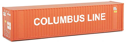 Walthers Trainline 40' Hi-Cube Corrugated Container w/Flat Roof Columbus Line - Assembled Train Collectable Train