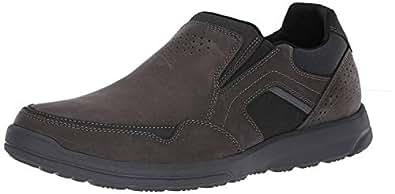 ROCKPORT Men's Welker Casual Slip On Shoe, Iron, 7 M US