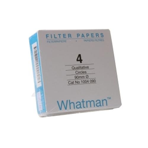 Whatman 4712N50PK 1004270 Grade 4 Qualitative Filter Paper, 270 mm Thick and Max Volume 1621 ml/m (Pack of 100) by Whatman