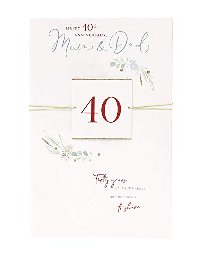 Mum and Dad 40TH Anniversary Card - 40TH Anniversary Gifts - Wedding Anniversary Card - Mum and Dad Anniversary Gifts - 40 Year Anniversary Card - Ruby Anniversary Card