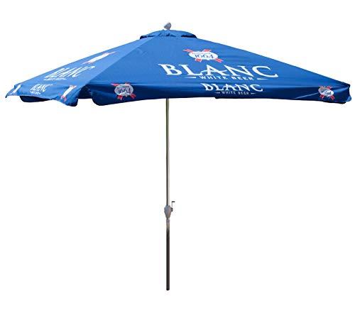 Kronenbourg Blanc 8.5 Ft. Blue White Beer Logo 8.5-ft. Square Patio Umbrella