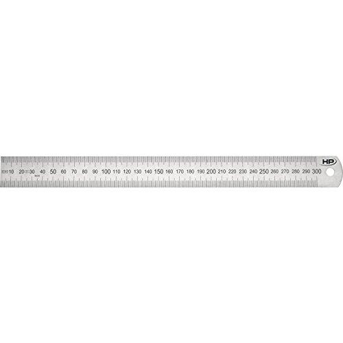 HELIONS PREISSER Stahlmaßstab biegsam EG-Prüfzeichen Genauigkeit II, 300 x 30 x 1,0 mm, 0460207