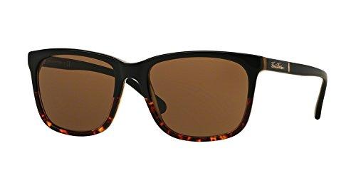 Brooks Brothers BB5027S Sunglasses 609973-57 - Black Tort/matte Black Tort Frame, Dark Brown Solid from Brooks Brothers