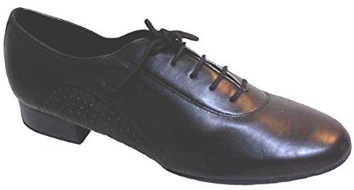 "Herren Professional Black Leather Flex Split Sohle mit 1 ""Standard Heel"