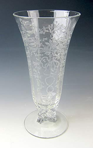 Fostoria Crystal Corsage-Clear Footed Vase Excellent