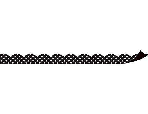 Teacher Created Resources Black Polka Dots Magnetic Border (Dot Border)