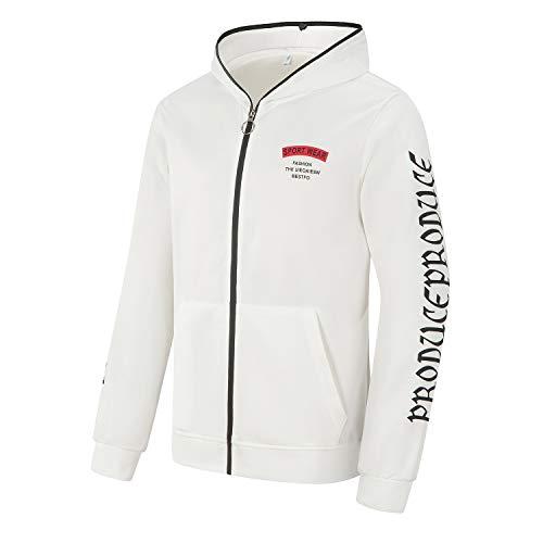 2 Blanc Sweat Capuche Ensemble pantalons Longues Manches Fit Jogging Loisir Survêtement Yinq Slim Pièces Zipper À ZAqwTEW7x