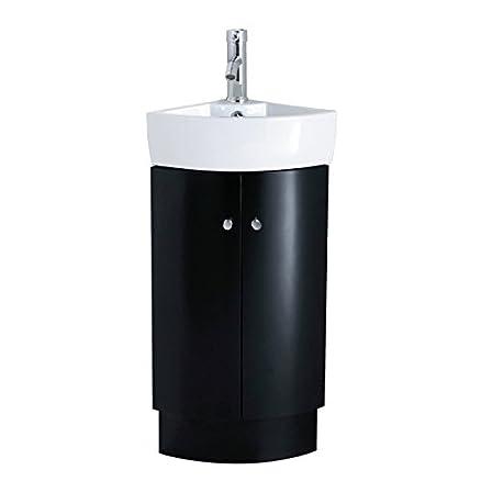 JL Bathrooms - Lavabo angolare con mobiletto per bagno Vanity, 310 ...