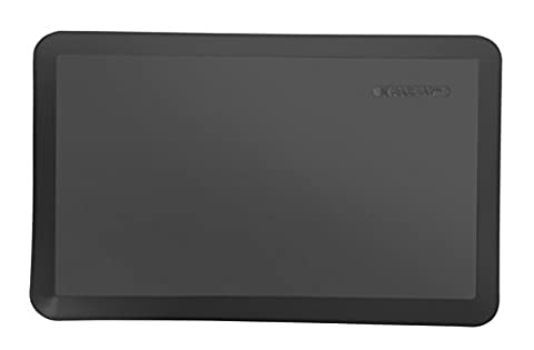 MAXMAT Original Comfort Standing Desk Mat 100%PU 20 in x 32 in for Kitchen and Workstation,Black (Bathroom Stand Up Sink)