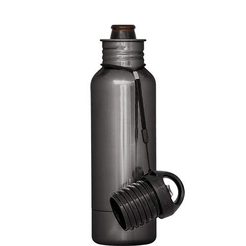 BottleKeeper - The Standard 2.0 - The Original Stainless Steel Bottle Holder and Insulator to Keep Your Beer Colder (Black Chrome)