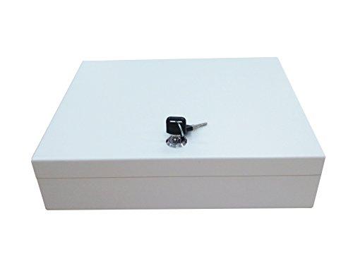 Secure Steel Key Storage Cabinet 93 Keys Gray Box Garage Wall Organizer Lock NEW 15124 by FixtureDisplays (Image #3)