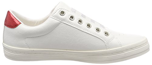 s EU White Blanc Femme 38 Oliver 24622 Basses Sneakers rzPBrqR
