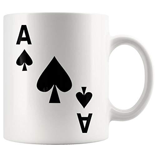 Ace of Spades Halloween Deck Card Costume Matching Mug Coffee Mug 11oz Gift Tea Cups 11oz -