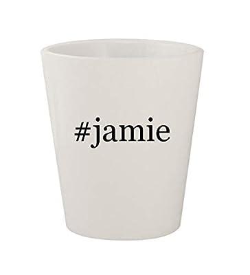 #jamie - Ceramic White Hashtag 1.5oz Shot Glass