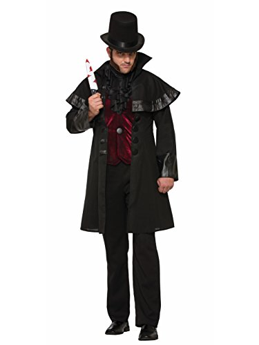 Forum Men's Jack The Ripper Deluxe Costume, Black/Red, STD
