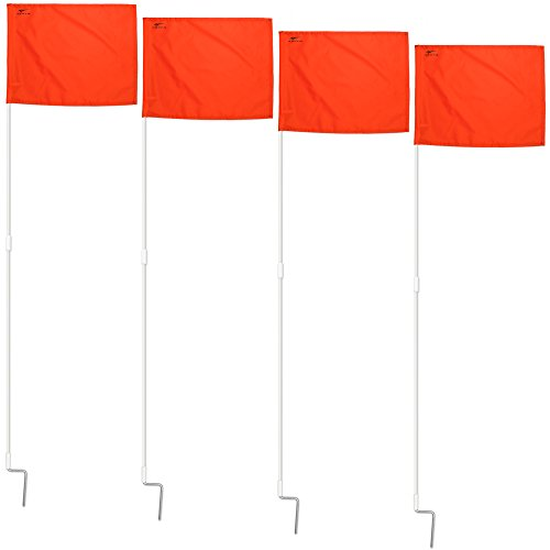 Agora Portable Fiberglass Corner Flags - Set of 4